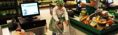 The supermarket at KidZania Santiago