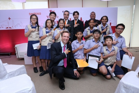 The KidZania team with young KidZania journalists
