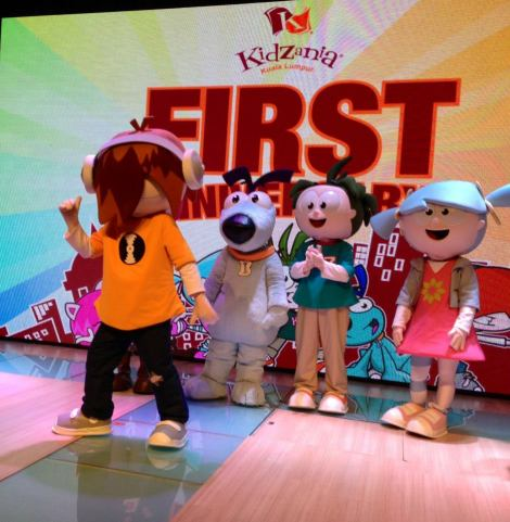 Beebop, Bache, Urbano and Vita during KidZania KL's 1st Anniversary Celebrations