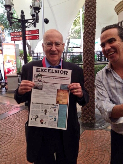 Prof. Philip Kotler happy after discovering he had made the front page of today's paper