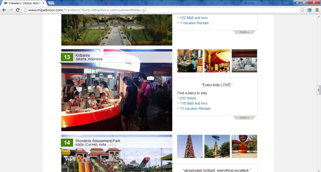 "KidZania Jakarta listed as #13 in TripAdvisor's ""Top 25 Amusement Parks in Asia"""