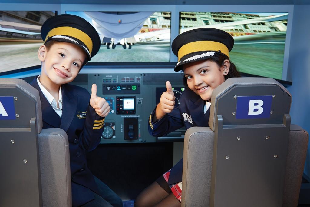 KZ Mumbai_Kids role-playing as pilots