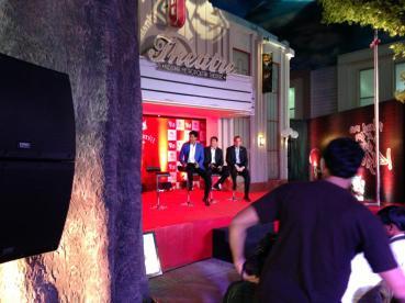 Bollywood actor Shah Rukh Khan with Mr. Xavier López, President of KidZania