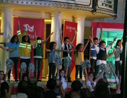 Children dancing during the Founding Ceremony of KidZania Cairo