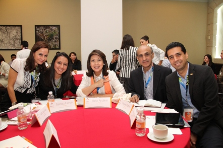 From left to right: Lara Sayinsoy, Gabriela Fuentes, Maricel Pangilinan-Arenas, Sanjeev Kumar and Gilberto Güido
