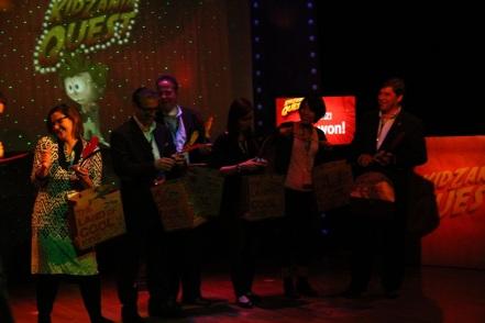 "Members of the Blue Team, winners of the 2013 ""KidZania Quest"" game"