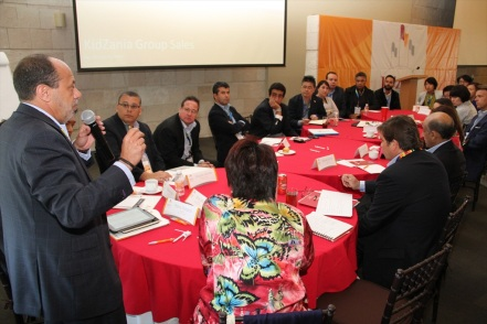 Hernán Barbieri, Governor of KidZania Mexico, during his participation in a round table