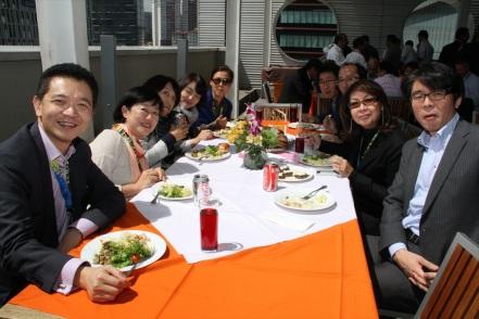 From left to right: Warren Kok, Yumiko Kinoshita, Yasuko Kunisada, Minhee Hong, Jean Hyunsook, Andrew Park, Fumi Inoue, Maricel Pangilinan-Arenas and Kyoichiro Kamibayashi