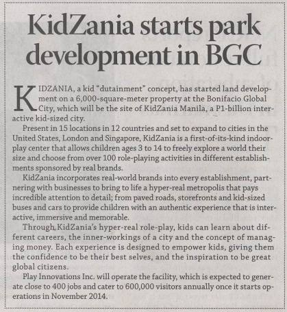 Business Mirror - KidZania Manila