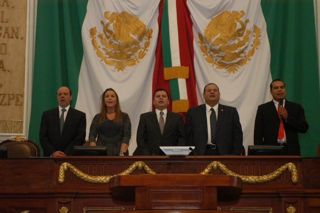 KidZania representatives preceded the session along representatives of Mexico City's Legislative Assembly.