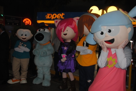 Urbano, Bache, Chika, Beebop and Chika escorted the guests through KidZania Istanbul