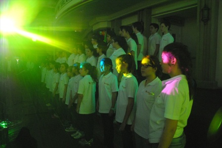 A choir of children singing the Spirit of a Nation, KidZania's National Anthem