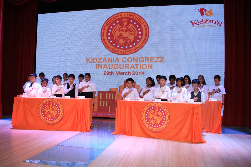 KidZania Kuala Lumpur's CongreZZ  being sworn in during the oath recital