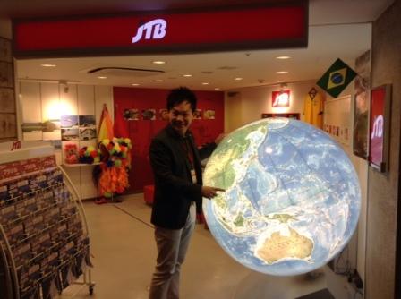 Mr. Andrew Lee at KidZania Tokyo's JTB Travel Agency