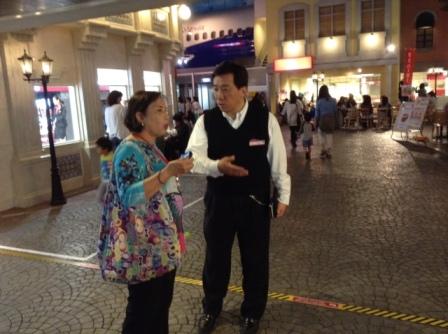 Mrs. Cynthia Mamon during her visit to KidZania Tokyo and Mr. Satoshi Takahata.