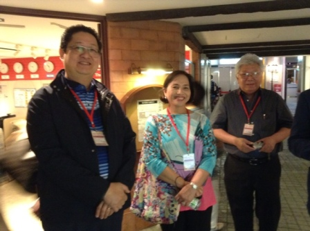 Mr. Mario Mamon, his wife Cynthia Mamon and Mr. Rachmat Sutiono.