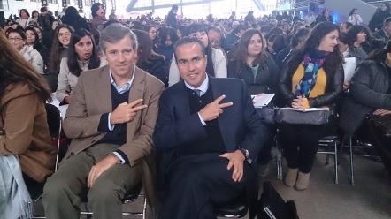From left to right: Mr. Pedro Tagle -Governor, KidZania Chile- and Mr. Xavier López -President of KidZania-