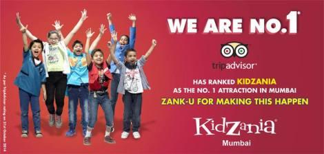 KidZania Mumbai Ranks No. 1 on TripAdvisor's Attractions List in Mumbai
