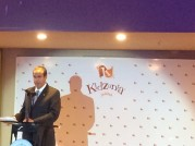 Mr. Xavier López -President of KidZania- during his speech at the Foundation Ceremony of KidZania Jeddah