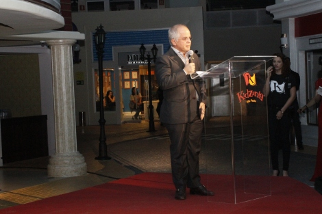 Mr. Emilio Medina -Governor of KidZania Brazil- during his inaugural speech.