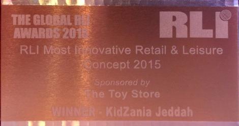RLI's Most Innovative Retail & Leisure Concept 2015 award goes to KidZania Jeddah