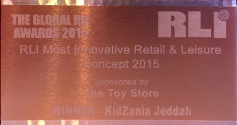 RLI's Most Innovative Retail & Leisure Concept 2015 award goes to KidZania Jeddah