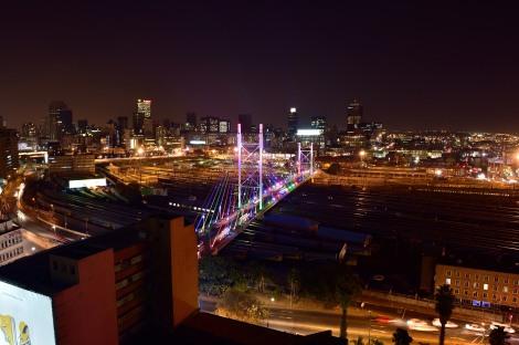 Nelson Mandela bridge in Johannesburg